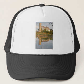 Barn Relected in the Water Trucker Hat