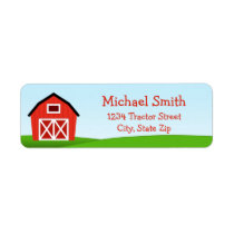 Barn Return Address Label
