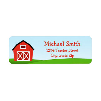 Barn Return Address Label