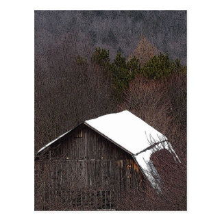 Barn Roof Postcard