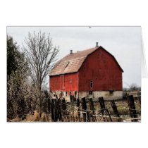 Barn Rural Farm Life Blank Greeting Note Card