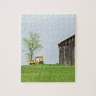 Barn Scene With Tractor Jigsaw Puzzle