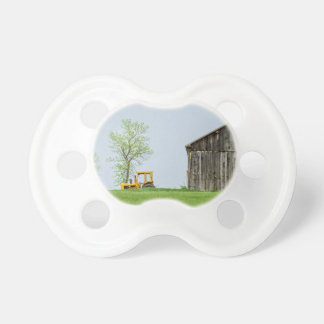 Barn Scene With Tractor Pacifier