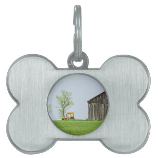 Barn Scene With Tractor Pet ID Tag