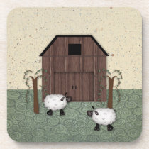 Barn Sheep Cork Coaster
