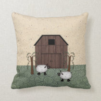 Barn Sheep Pillow