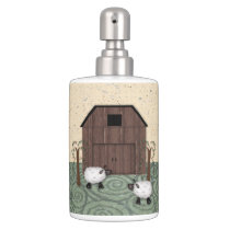 Barn Sheep Toothbrush/Soap Set