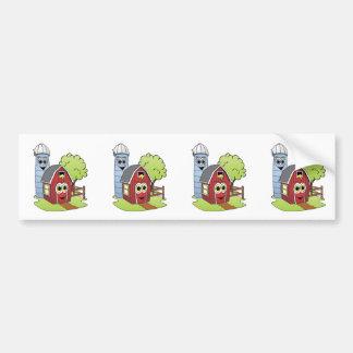 Barn Silo Cartoon Bumper Sticker