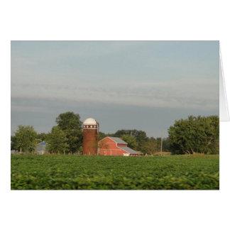 Barn, Siloh and Soybean Field Card