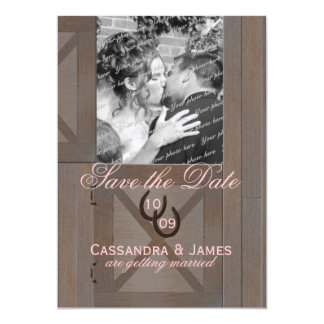 Barn Stable Doors Save the Date with Photo Card