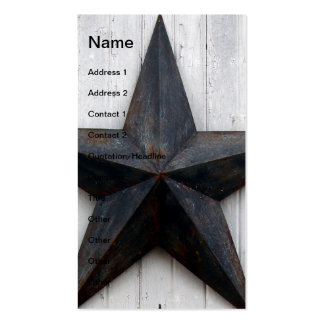 Barn Star Double-Sided Standard Business Cards (Pack Of 100)