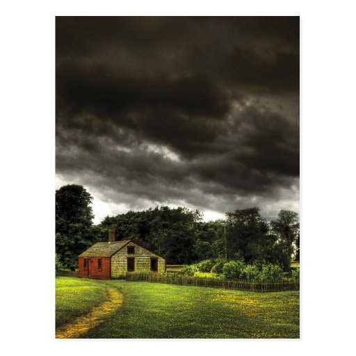 Barn - Storms a comin Post Cards