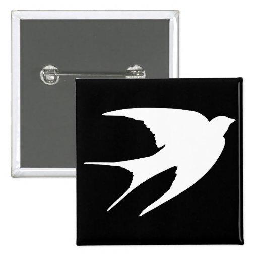 Barn Swallow 2 Inch Square Button