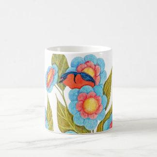 Barn Swallow and Posies Classic White Coffee Mug