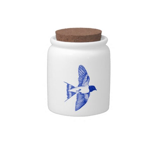 Barn Swallow Candy Jar