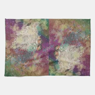 Barn Swallow Fantasy 60's Two Birds in a Nest Kitchen Towel