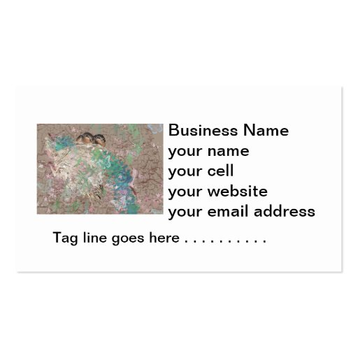 Barn Swallow Fantasy - Birds in a nest Business Card Templates