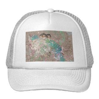Barn Swallow Fantasy - Birds in a nest Trucker Hats