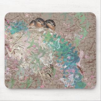 Barn Swallow Fantasy - Birds in a nest Mousepad
