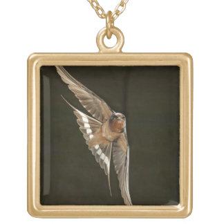 Barn Swallow in flight Necklaces