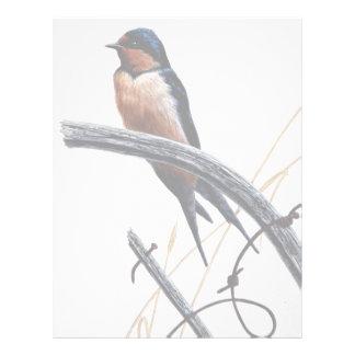 Barn swallow letterhead