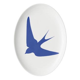 Barn Swallow Porcelain Serving Platter