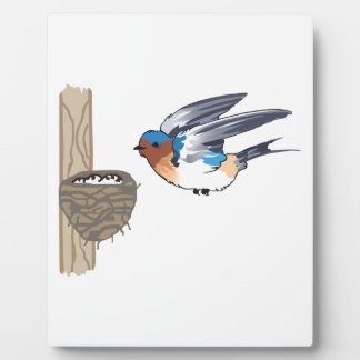 BARN SWALLOW WITH NEST PLAQUE
