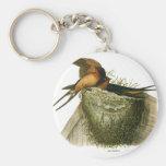 Barn Swallows Basic Round Button Keychain