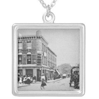 Barn Tavern, Highbury, c.1900 Square Pendant Necklace