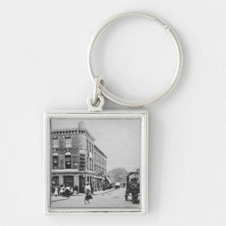Barn Tavern, Highbury, c.1900 Silver-Colored Square Keychain