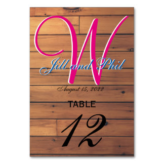Barn Wall 3d Monogram Table Number