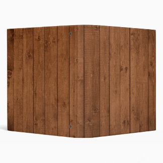 Barn Wall Made of Old Wooden Planks - Brown 3 Ring Binder