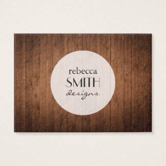 Barn Wall Made of Old Wooden Planks - Brown Business Card