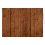 Barn Wall Made of Old Wooden Planks - Brown Card