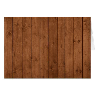 Barn Wall Made of Old Wooden Planks - Brown Greeting Card