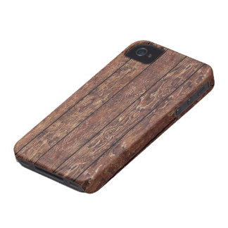 Barn Wall Made of Old Wooden Planks - Brown Case-Mate iPhone 4 Cases