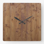 Barn Wall Made of Old Wooden Planks - Brown Clocks