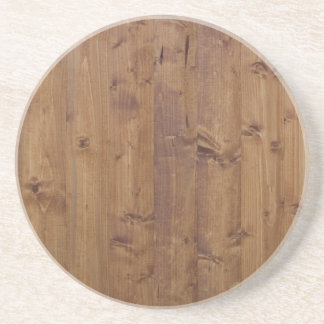 Barn Wall Made of Old Wooden Planks - Brown Coaster