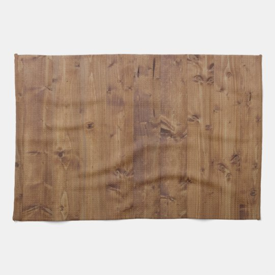 Barn Wall Made of Old Wooden Planks - Brown Hand Towel
