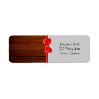 Barn Wall Made of Old Wooden Planks - Brown Return Address Label