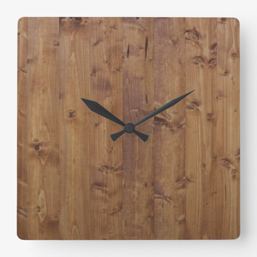 barn wall made of wooden planks brown square wall clock zazzle