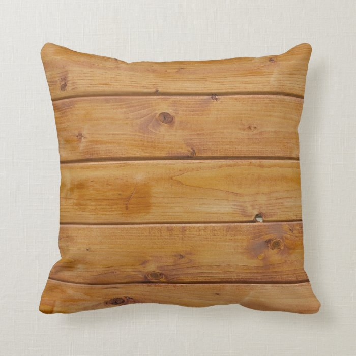 Barn Wall Made of Old Wooden Planks - Brown Throw Pillow