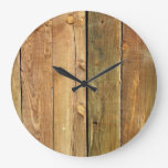 Barn Wall Made of Pine Wooden Planks - Brown Clocks