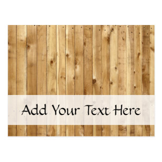 Barn Wall Made of Pine Wooden Planks - Brown Post Card