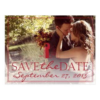 Barn Wedding Photo SAVE THE DATE Wedding Postcard