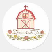 barn wedding stickers