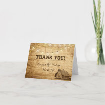 Barn Wedding Thank You Card for Country Wedding