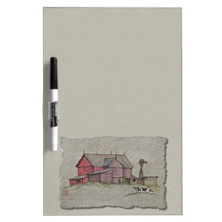 Barn Windmill & Cow Dry-Erase Board