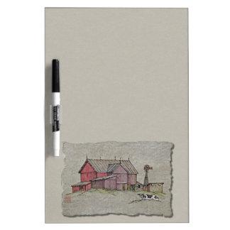 Barn Windmill Cow Dry-Erase Boards
