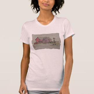 Barn Windmill & Cow T-Shirt